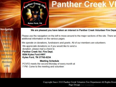 Panther Creek VFD - Kyles Ford TN