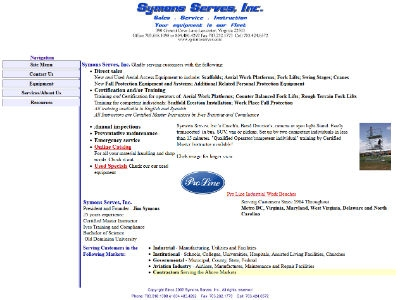 Symons Serves, Inc. - Aerial Lifts